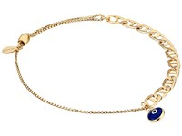 Alex And Ani Evil Eye Flat Mariner Pull Chain Bracelet 14Kt Gold Filled Bracelet