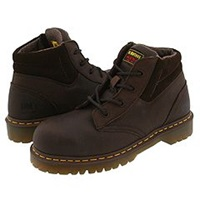 Dr. Martens Work New Icon 4 Eye Boot Bark Brown Men's Work Boots Taupe