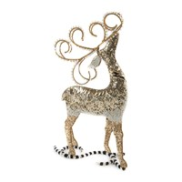 Mackenzie Childs Silver Lining Deer Decorative Ornament
