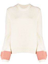 Chinti And Parker Ribbed Knit Contrast Jumper 60
