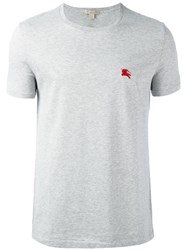 Burberry Brit Embroidered Logo T Shirt Grey