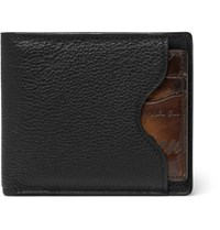 Berluti Makore 2 In 1 Leather Billfold Wallet With Removable Card Holder Black