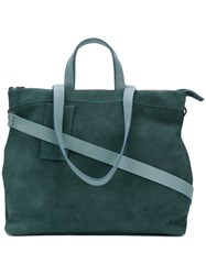 Marsell Borso Tote Leather Suede Green