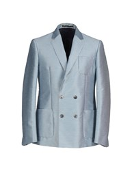 Mauro Grifoni Suits And Jackets Blazers Men Sky Blue