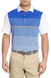 Bobby Jones Men's Xh2o Tartine Stripe Polo White