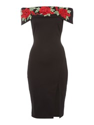 Jessica Wright Bardot Neckline Dress Black