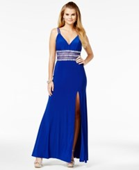 Say Yes To The Prom Juniors' Embellished Illusion Gown A Macy's Exclusive Royal