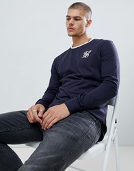 Sik Silk Siksilk Long Sleeve Ringer T Shirt In Navy