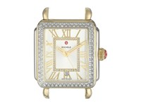 Michele 33Mm X 35Mm Deco Madison Diamond Two Tone Dial Silver Silver Watches