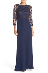 Women's Tadashi Shoji Embroidered Lace Gown