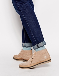 Original Penguin Lodge Chucker Boots Beige