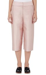 Harvey Faircloth Women's Silk Wool Wide Leg Culottes Pink