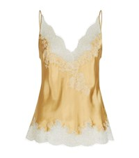 Carine Gilson Silk And Lace Camisole Female Gold