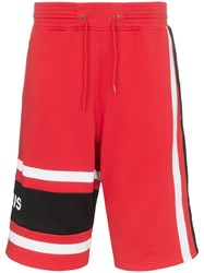 Givenchy Basketball Style Logo Shorts Red