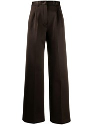 Fendi Jersey Tailored Trousers Brown