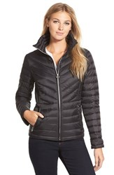 Women's Michael Michael Kors Stand Collar Packable Down Jacket Black