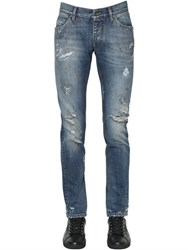 Dolce And Gabbana 17Cm Destroyed Cotton Denim Jeans