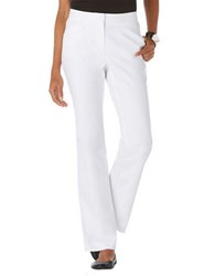 Rafaella Petite Front Pleat Trousers White