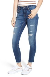 Vigoss Jagger Ripped Ankle Skinny Jeans Dark Wash