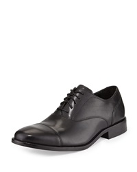 Cole Haan Williams Leather Cap Toe Lace Up Black