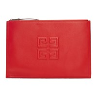 Givenchy Red 4G Emblem Pouch