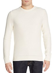 Michael Kors Cashmere Tuck Stitch Sweater White