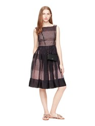 Kate Spade Geo Tile Fit And Flare Dress