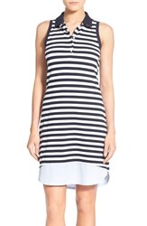 Women's Tommy Bahama 'Paradise Stripe' Sleeveless Polo Dress