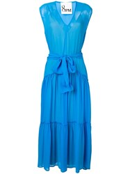 8Pm Belted Maxi Dress Blue