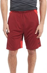 Nike Men's 'Fly' Dri Fit Training Shorts Team Red Red Black