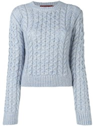Sies Marjan Thatched Cable Sweater Blue