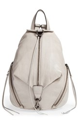 Rebecca Minkoff Medium Julian Leather Backpack Grey Putty Gunmetal