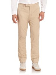 Ralph Lauren Blue Label Solid Straight Leg Pants Khaki