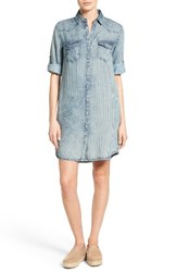 Kut From The Kloth Women's Ruthy Stripe Denim Shirtdress