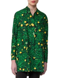 Akris Buttercup Print Voile Tunic Forest
