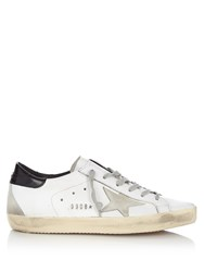 Golden Goose Super Star Low Top Leather And Suede Trainers White Black