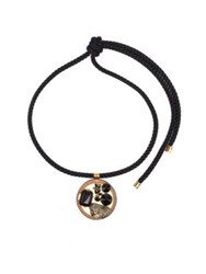 Marni Pyrite Crystal And Leather Rope Knot Necklace Black Multi