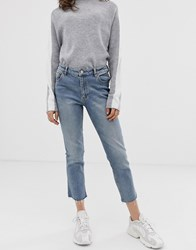 Cheap Monday Revive Straight Cropped Jeans Blue