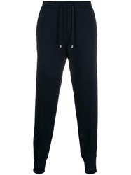 Giorgio Armani Velvet Pocket Track Pants Blue