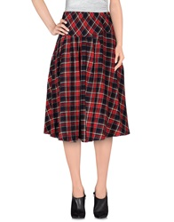 Cutie Knee Length Skirts Red
