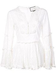 Alexis Embroidered Top White