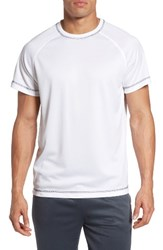 Majestic International Men's Big And Tall Work Out Crewneck T Shirt Light Grey