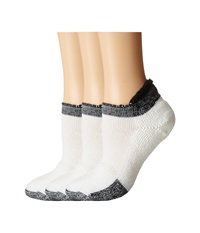 Thorlos Thick Cushion Tennis Rolltop 3 Pair Pack Black Women's No Show Socks Shoes