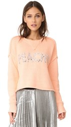 Wildfox Couture Peachy Sweater Peach Glow