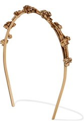 Oscar De La Renta Gold Plated Crystal Headband