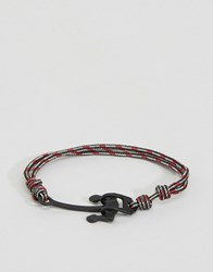 Icon Brand Alton Rope Anchor Bracelet In Red Red
