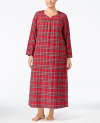 Charter Club Plus Size Printed Flannel Nightgown Only At Macy's Brinkley Plaid