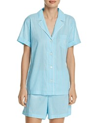 Ralph Lauren Short Pajama Set Turquoise Stripe