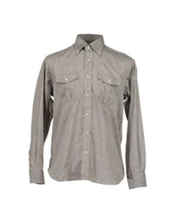 Roccobarocco Long Sleeve Shirts Grey
