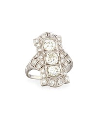 Nm Estate Jewelry Collection Estate Art Deco North South Diamond Dinner Ring